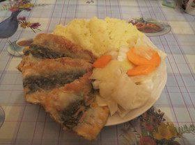 Жареное филе салаки