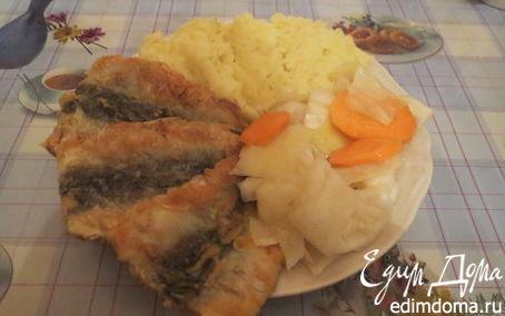 Рецепт Жареное филе салаки