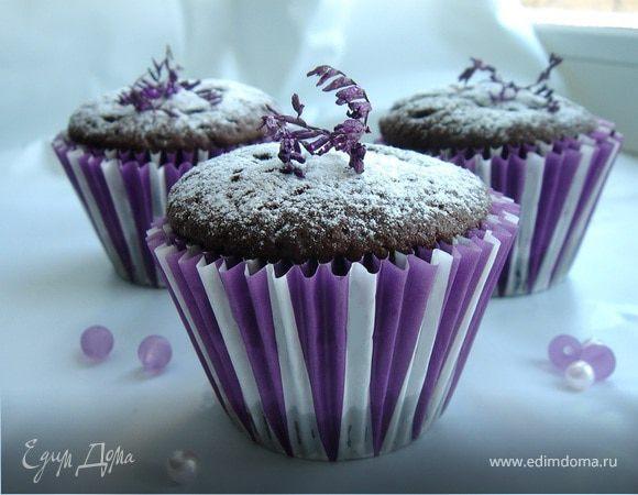 Заварные шоколадные кексы с заварным кремом
