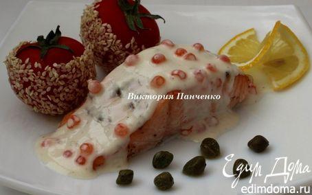 """Рецепт Семга под соусом """"Шампань"""""""