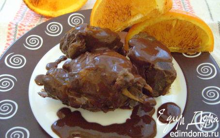 Рецепт Утка с шоколадно-апельсиновым соусом