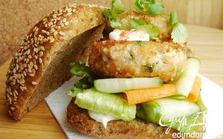 Рецепт Азиатские рыбные бургеры