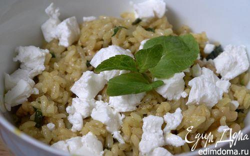 Рецепт Рисовый салат с козьим сыром, грецкими орехами и карри