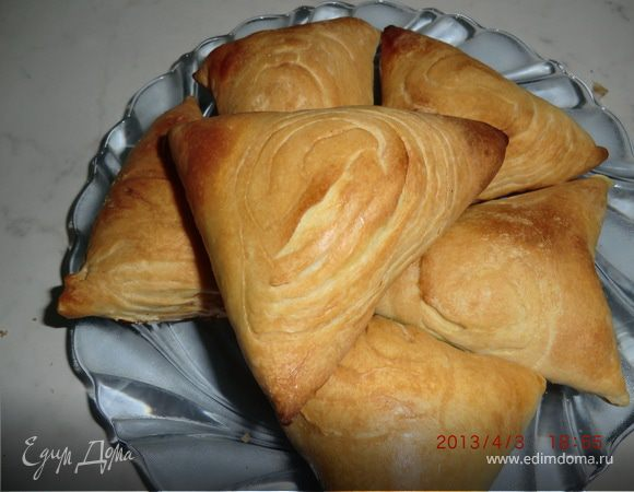самса слоеное тесто пошаговый рецепт с фото