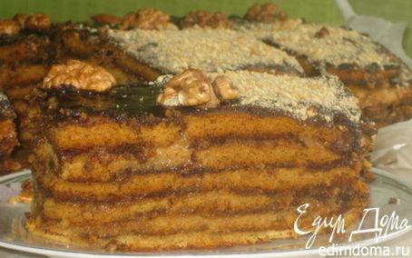 Рецепт Медовый торт «Ем губами» (без сливочного масла)