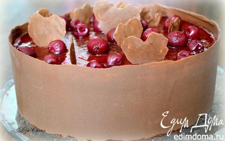 """Рецепт Вишневый торт-суфле """"Лиза, с днем рождения!"""""""