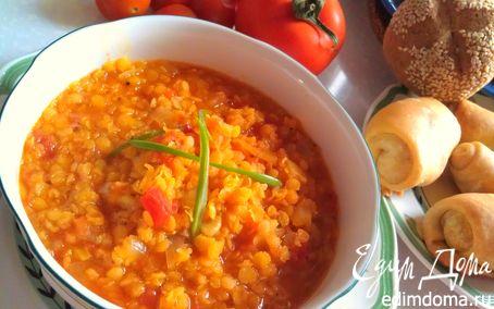Рецепт Густой суп из красной чечевицы