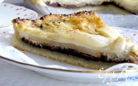 Рецепт Пирог с грушами и шоколадом