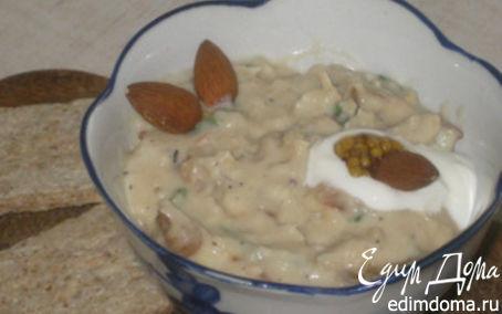 Рецепт Фасолевый паштет с карамелизированным луком и имбирем