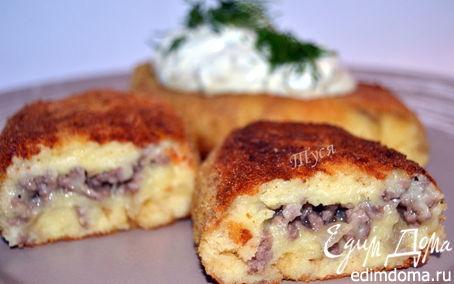 Рецепт Биточки картофельные с мясной начинкой