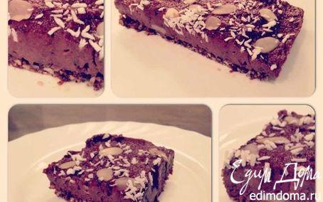 Рецепт Брауни с черной смородиной (по сыроеду)