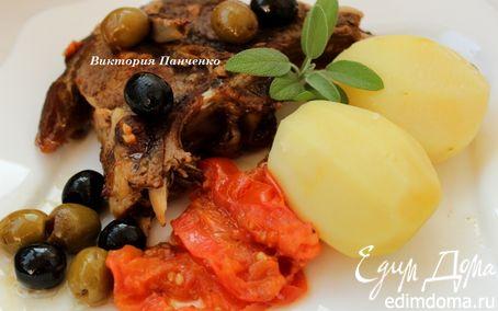 Рецепт Баранина в вине с маслинами и шалфеем
