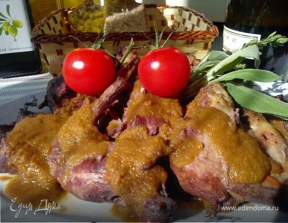 Кролик с овощами по-итальянски
