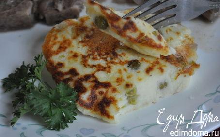 Рецепт Картофельные котлеты с зеленым горошком