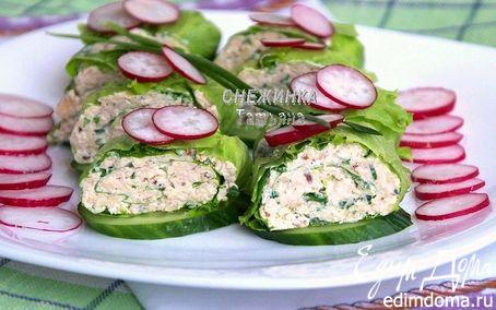 Рецепт Легкий закусочный рулет из салатных листьев
