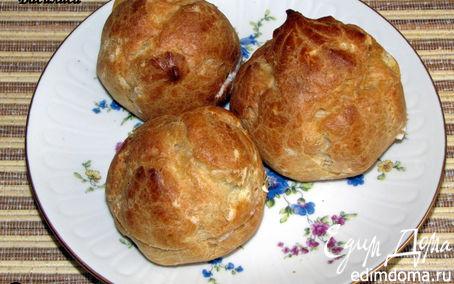 Рецепт Эклеры с печенью трески и козьим сыром