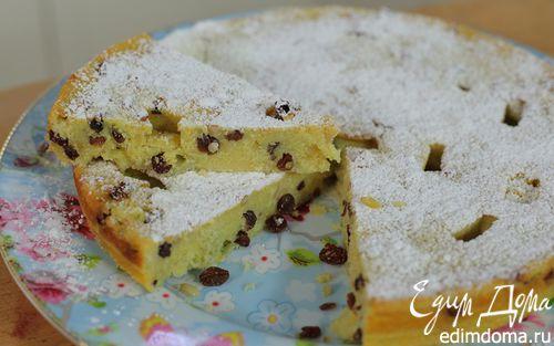 Рецепт Пирог из поленты с творогом, изюмом и кедровыми орешками