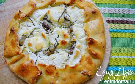 Рецепт Галета с белыми грибами и козьим сыром