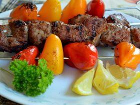 Свиной кебаб со сладким перцем