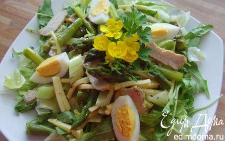 Рецепт Витаминный салат со спаржей