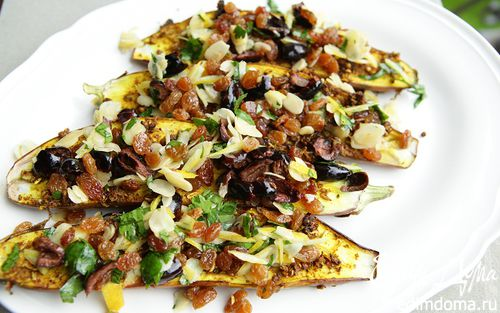 Рецепт Пряные баклажаны с миндальной начинкой