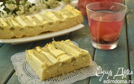 Рецепт Творожный пирог с ревенем