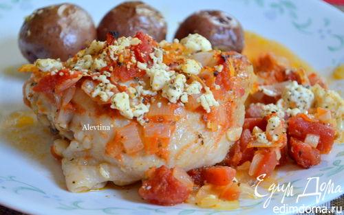 Рецепт Курица с томатами и фетой