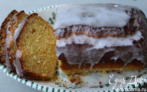 Рецепт Апельсиновый кекс с миндалем и кокосом