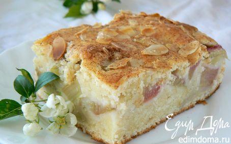 Рецепт пирог с ревенем и миндалем