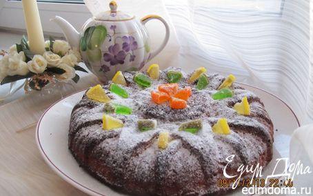 Рецепт Пирог мускатно-лимонный с финиками на сыворотке