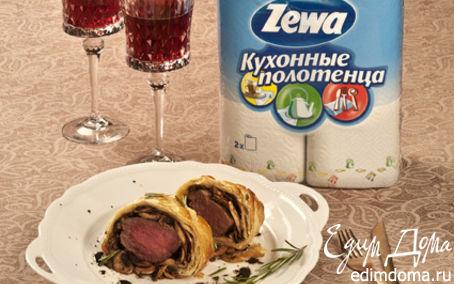 """Рецепт Говядина """"Веллингтон"""" с грибами"""