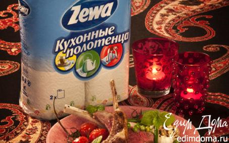 Рецепт Корейка ягненка с фасолью и зеленым горошком