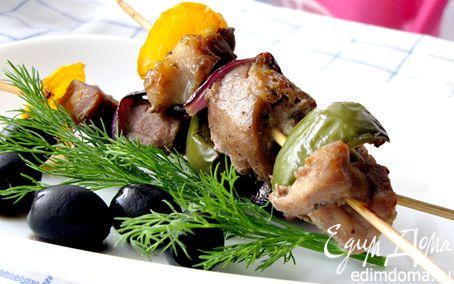 Рецепт Сувлаки из свинины (греческий шашлык)