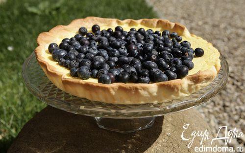 Рецепт Пирог с лаймом и голубикой