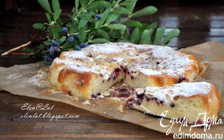 Рецепт Нежный бисквит с жимолостью или любой другой ягодкой