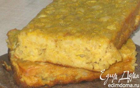 Рецепт Сочный кукурузно-овсяный кекс с яблоками и грушами