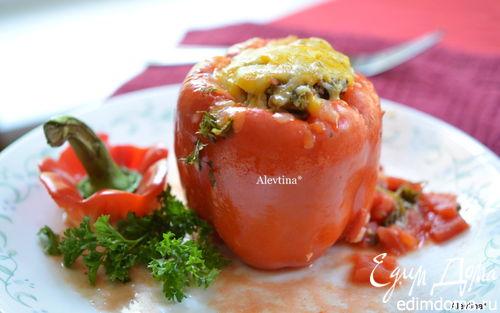 Рецепт Фаршированные сладкие перцы с грибами и фаршем