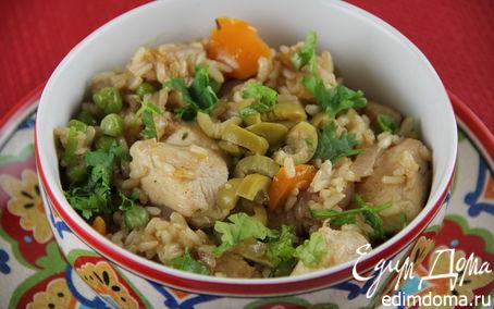 Рецепт Курица с рисом и овощами по-испански