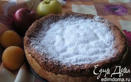 Рецепт Бисквитно-песочный пирог с малиной