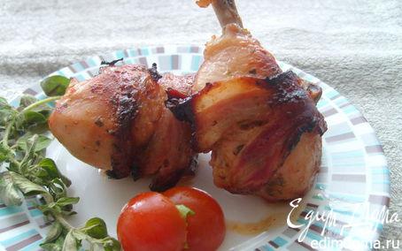 Рецепт Куриные ножки с беконом