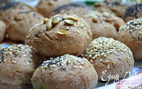 Рецепт Хлебные булочки с маком, кунжутом и семечками («ШКОЛЬНАЯ ССОБОЙКА»)