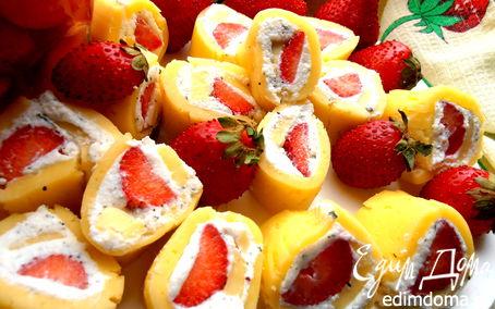 Рецепт Сырные рулетики с летней начинкой