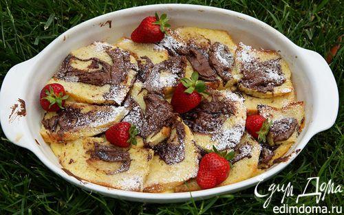 Рецепт Шоколадно-ванильный хлебный пудинг