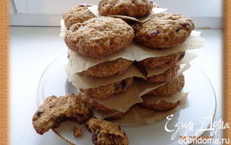 Рецепт Овсяное печенье с клюквой и орехами