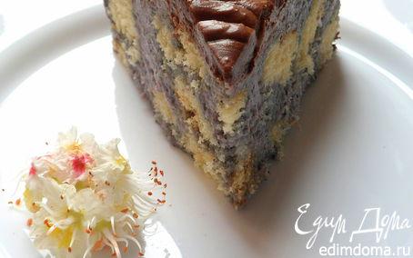Рецепт Торт с чернично-кокосовым муссом и шоколадом