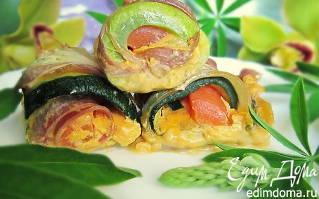 Рецепт Закусочные рулетики из кабачков