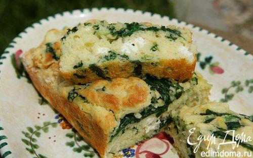 Рецепт Хлеб с фетой и шпинатом