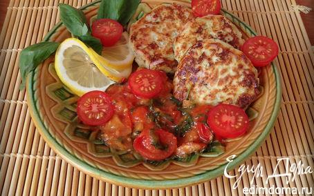Рецепт Сырники с фетой, ветчиной и кинзой