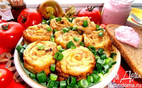 Рецепт Ленивые пельмени на овощной подушке для Яны