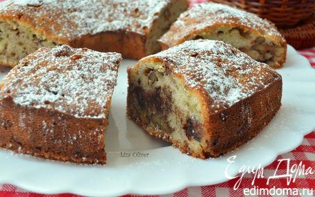 Рецепт Кабачковый кекс-кольцо с шоколадом и орешками